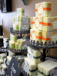 Photo of handmade soap available in the hair salon in Hastings Michigan