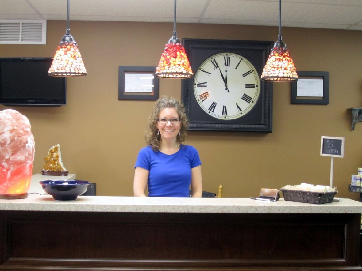 Photo of Pam Solmes who is the hair stylist and owner of Luminosity Salon.